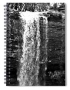 Cherokee Falls In Monochrome Spiral Notebook