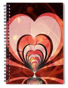 Cherries And Hearts Spiral Notebook
