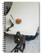 Cherries And Reflector Spiral Notebook