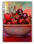 Cherries On The Table With Textures Spiral Notebook