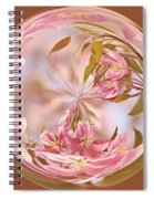 Cherry Blossom Orb Spiral Notebook