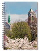 Cherry Blossoms And The Sacred Heart Spiral Notebook