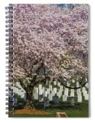 Cherry Blossoms Grace Arlington National Cemetery Spiral Notebook