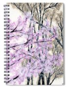 Cherry Blossoms In Spring Snow Spiral Notebook
