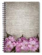 Cherry Blossoms On Linen  Spiral Notebook