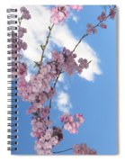 Cherry Floral Fountain Spiral Notebook