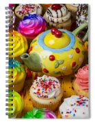 Cherry Teapot And Cupcakes Spiral Notebook