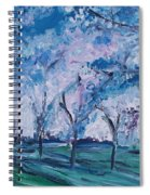 Cherry Trees Impressionism Spiral Notebook