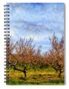 Cherry Trees With Blue Sky Spiral Notebook