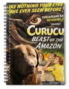 Chesapeake Bay Retriever Art - Curucu Movie Poster Spiral Notebook