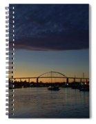 Chesapeake City Twilight Spiral Notebook