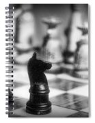 Chess Game In Black And White Spiral Notebook