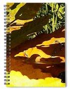 Chestnut Abstract Spiral Notebook