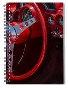 Chevrolet Corvette Red 1962 Spiral Notebook
