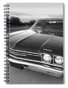 Chevrolet El Camino In Black And White Spiral Notebook