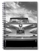 Chevrolet Impala 1959 In Black And White Spiral Notebook