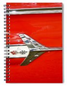 Chevrolet Impala Classic In Red Spiral Notebook