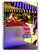 Chez Nino At Marche Jean Talon Montreal A Taste Of Culinary Culture  Food Art Scenes Carole Spandau  Spiral Notebook