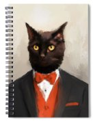 Chic Black Cat Spiral Notebook