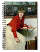 Chica In A Bar Spiral Notebook