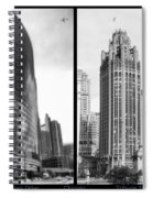 Chicago 333 And The Tower 2 Panel Bw Spiral Notebook