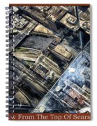 Chicago A View From The Top Of Sears Willis Tower Hdr Triptych 3 Panel Spiral Notebook