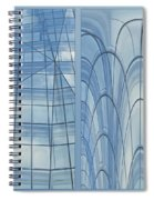 Chicago Abstract Before And After Blue Glass 2 Panel Spiral Notebook