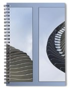 Chicago Abstract Before And After Radisson Blu Hotel 2 Panel Spiral Notebook