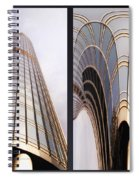 Chicago Abstract Before And After Sunrays On Trump Tower 2 Panel Spiral Notebook