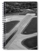 Chicago Airplanes 04 Black And White Spiral Notebook