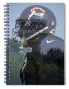 Chicago Bears Bourbonnais Il Summer Home Spiral Notebook