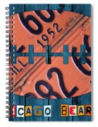 Chicago Bears Football Recycled License Plate Art Spiral Notebook