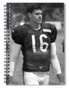 Chicago Bears P Patrick O'donnell Training Camp 2014 Bw Spiral Notebook