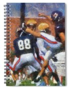 Chicago Bears P Patrick O'donnell Training Camp 2014 Photo Art 02 Spiral Notebook
