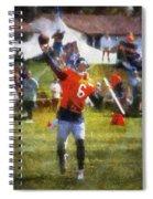 Chicago Bears Qb Jay Cutler Training Camp 2014 04 Photo Art 02 Spiral Notebook