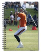 Chicago Bears Qb Jimmy Clausen Training Camp 2014 03 Spiral Notebook