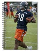 Chicago Bears Rb Shaun Draughn Training Camp 2014 01 Spiral Notebook
