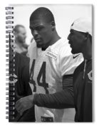 Chicago Bears S Adrian Wilson Training Camp 2014 Bw Spiral Notebook