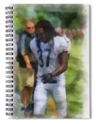 Chicago Bears S M J Jennings Training Camp 2014 Photo Art 01 Spiral Notebook