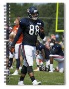Chicago Bears Te Dante Rosario Training Camp 2014 02 Spiral Notebook