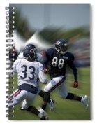Chicago Bears Te Dante Rosario Training Camp 2014 03 Spiral Notebook