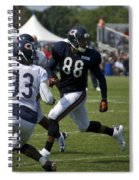 Chicago Bears Te Dante Rosario Training Camp 2014 04 Spiral Notebook