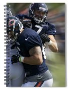 Chicago Bears Te Jeron Mastrud Moving The Ball Training Camp 2014 Spiral Notebook