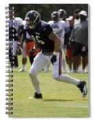 Chicago Bears Te Zach Miller Training Camp 2014 02 Spiral Notebook