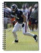 Chicago Bears Te Zach Miller Training Camp 2014 03 Spiral Notebook