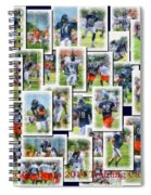 Chicago Bears Training Camp 2014 Collage Pa 01 Spiral Notebook