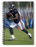 Chicago Bears Training Camp 2014 Moving The Ball 03 Spiral Notebook