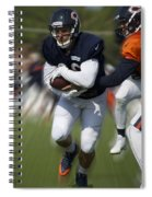 Chicago Bears Training Camp 2014 Moving The Ball 05 Spiral Notebook