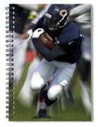 Chicago Bears Training Camp 2014 Moving The Ball 07 Spiral Notebook