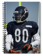 Chicago Bears Wr Armanti Edwards Training Camp 2014 01 Spiral Notebook